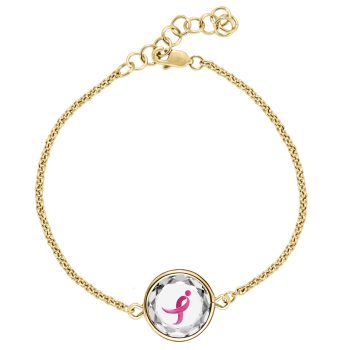 The Susan G. Komen Gold-Plated  Sterling Bracelet