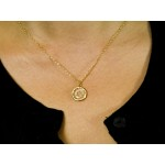 Star of David in White Topaz and Yellow Gold Plated Sterling Silver